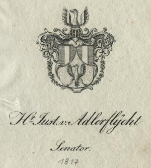 Wappen von Justinian von Adlerflycht