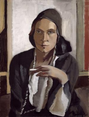 Frauenbildnis, vermutl. Selbstporträt, von Erna Auerbach