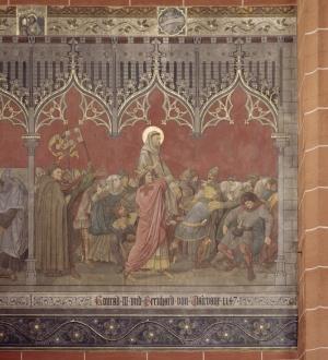 Konrad III. und Bernhard von Clairvaux