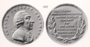 Ehrenmedaille für Johann Philipp Bethmann
