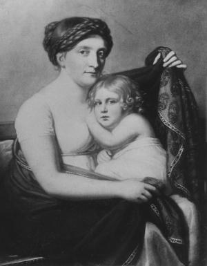 Anna Elisabeth Grunelius mit ihrem Sohn