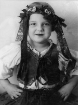 Liesel Christ als Sechsjährige