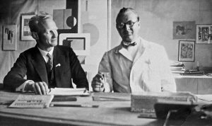 Herbert Skrebba (li.) und Willi Baumeister