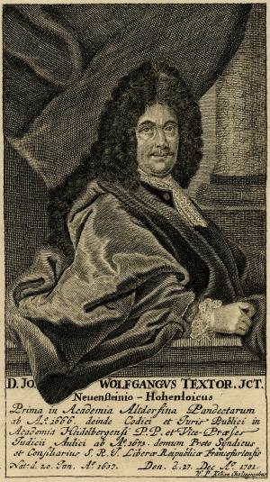 Johann Wolfgang Textor (1638-1701)